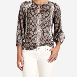 The Limited Snake Print Top